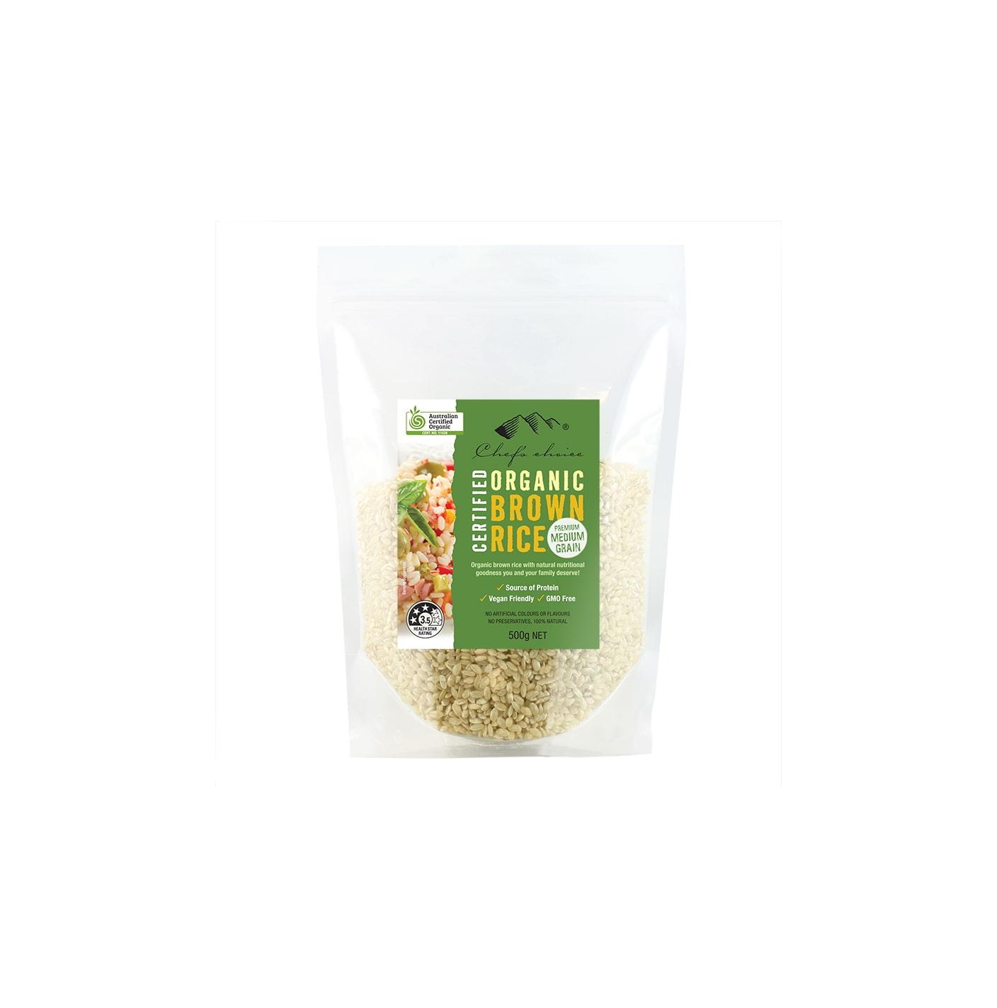 Organic Brown Rice 500g