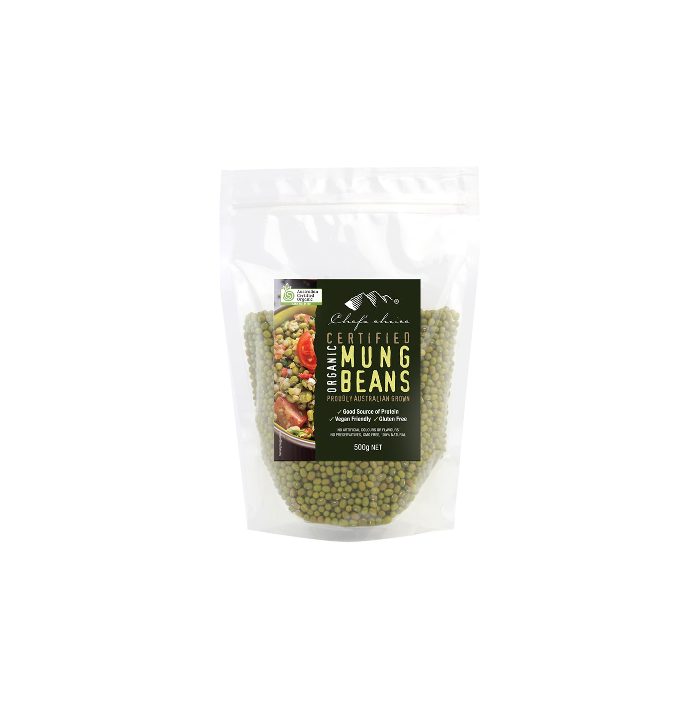 Natural and Organic Mung Beans 500g