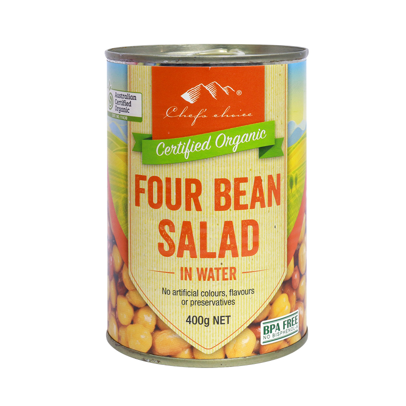 Org 4 Bean Salad in Water 400g