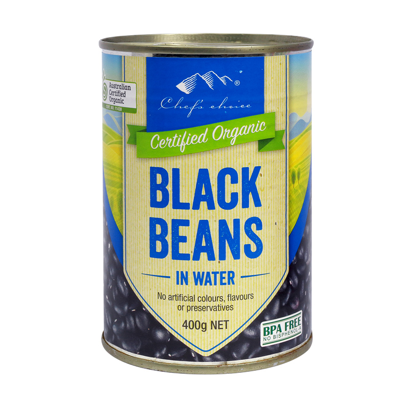 Org Black Beans in Water 400g