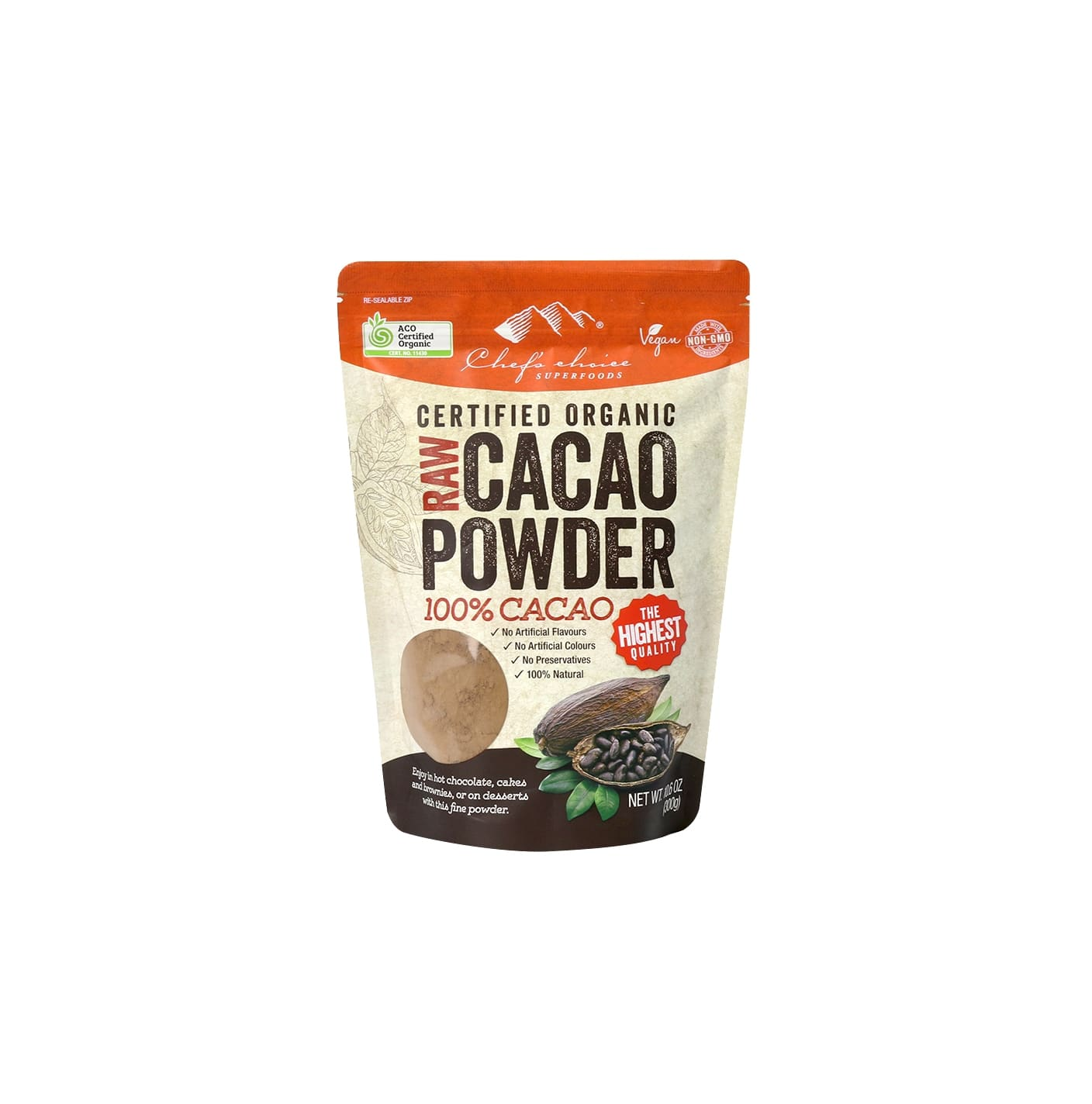 Raw Organic CACAO Powder 100% cocoa (20-22%) 300g