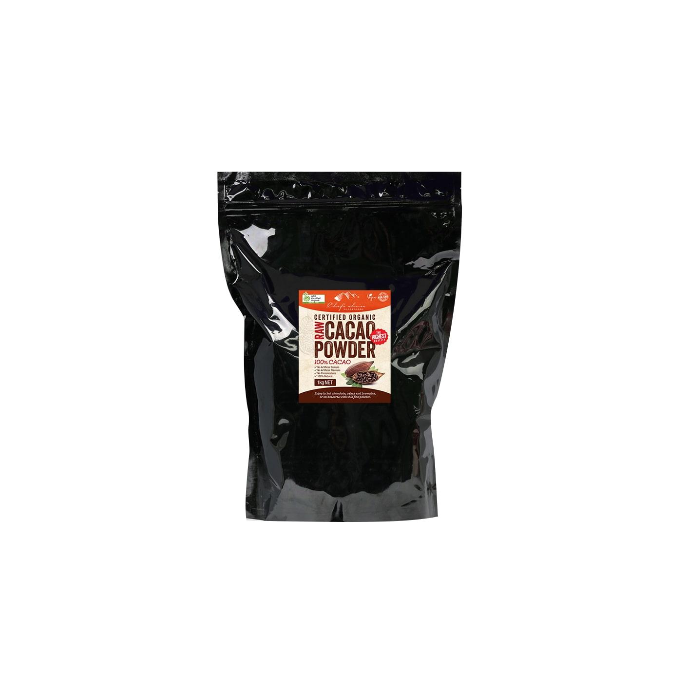 Raw Organic CACAO Powder 100% Cocoa (20-22%) 1Kg