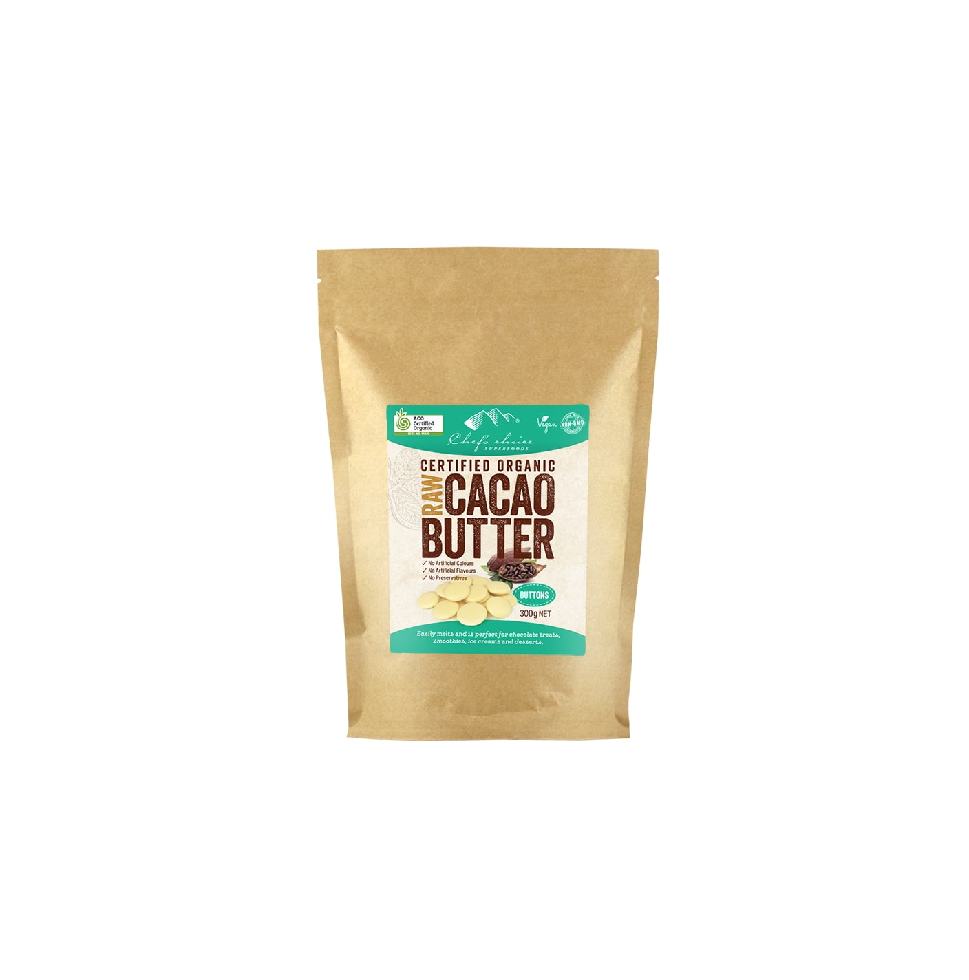 Organic Raw Cacao Butter 300g