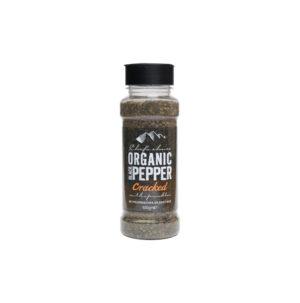 Organic Cracked Black Pepper Sprinkler 100g