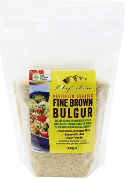 Organic Fine Brown Bulgur 500g