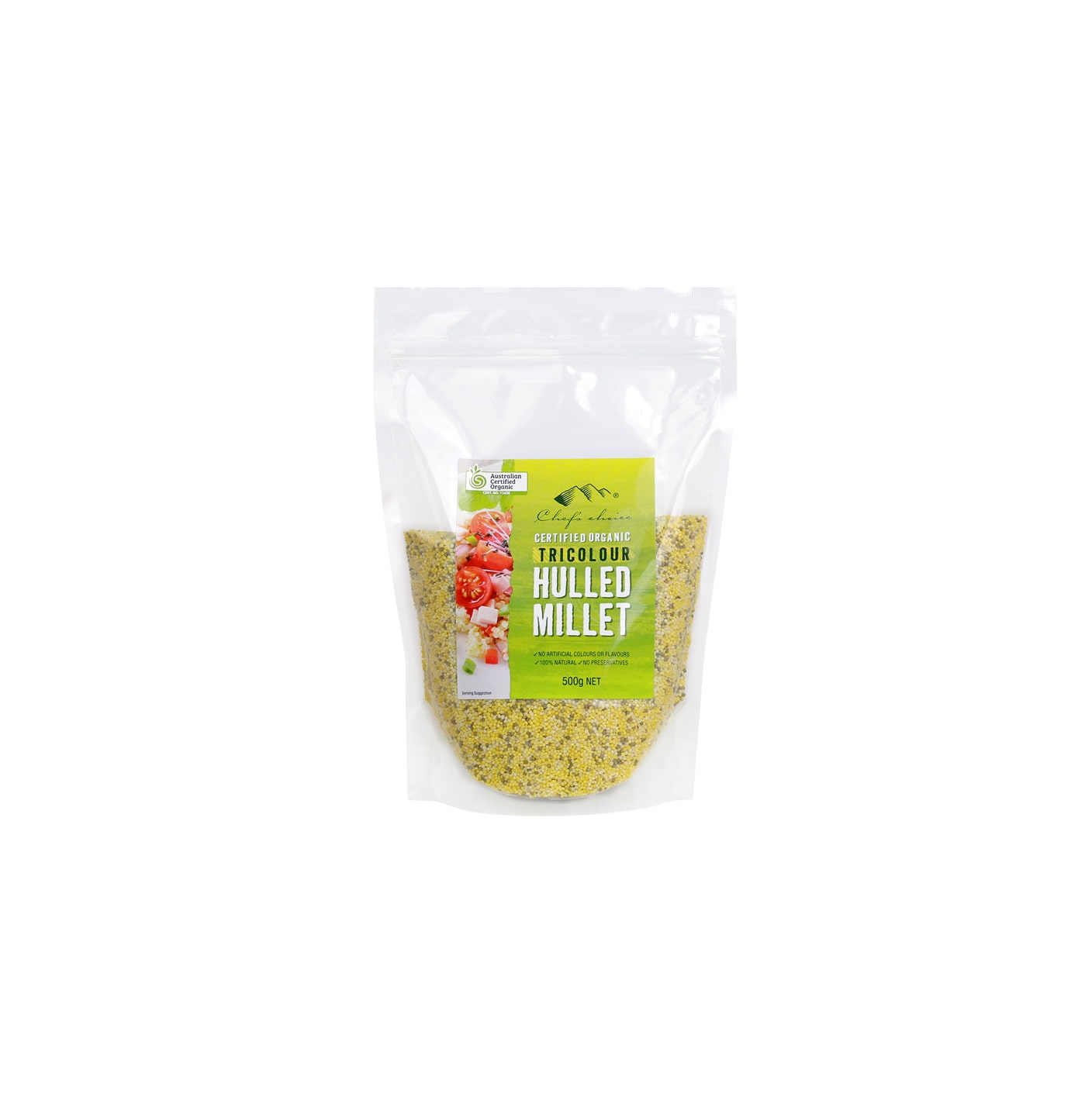 Organic Tri-colour Hulled Millet 500g