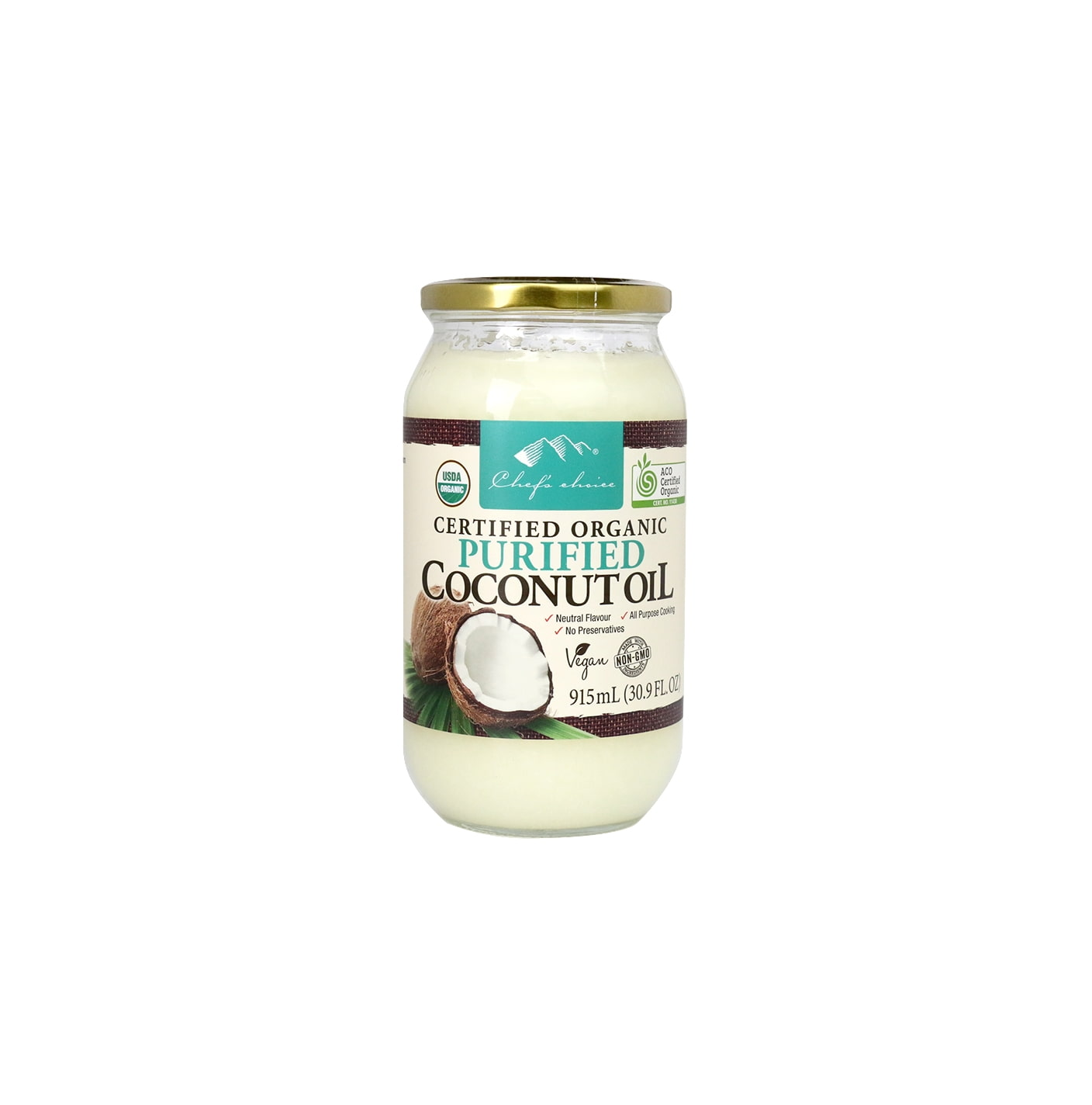 Organic Purified Coconut Oil 915mL