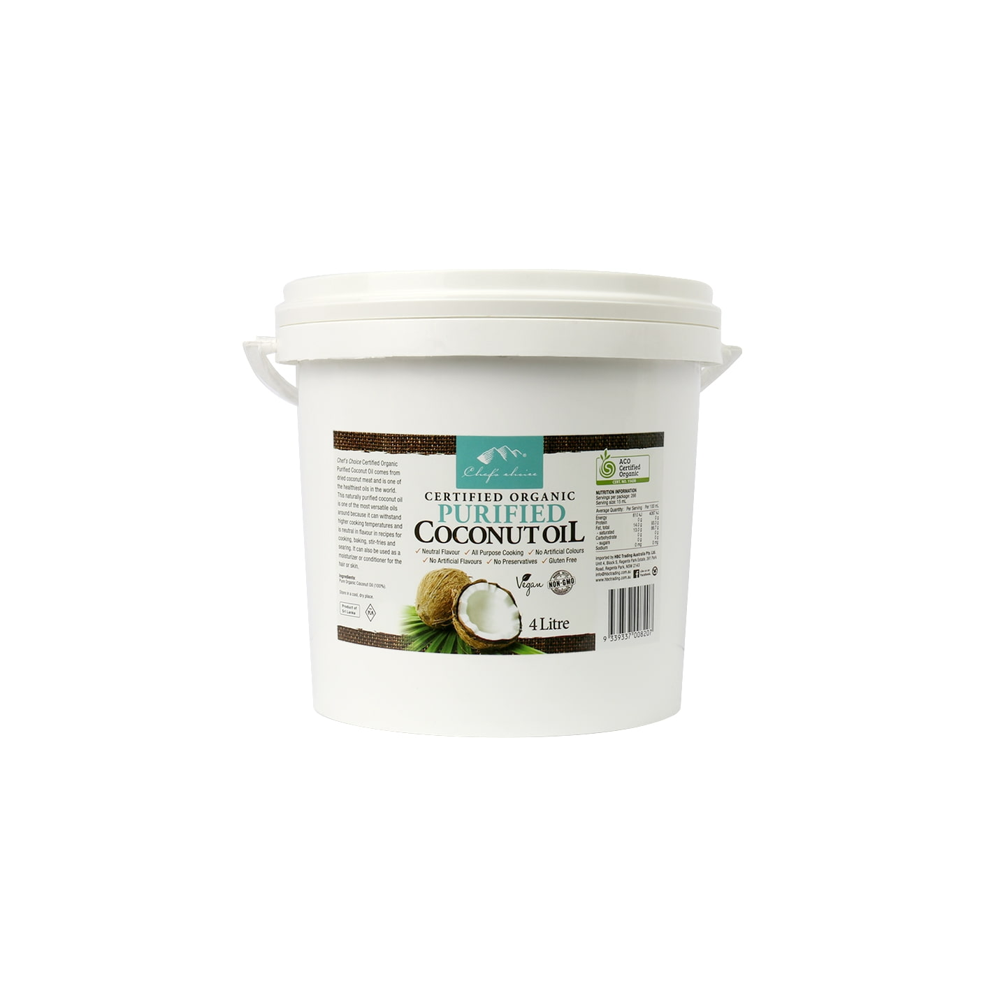 Org Purified Coconut Oil 4L