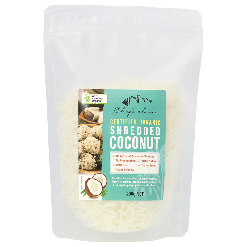 Organic Shredded Coconut 200g