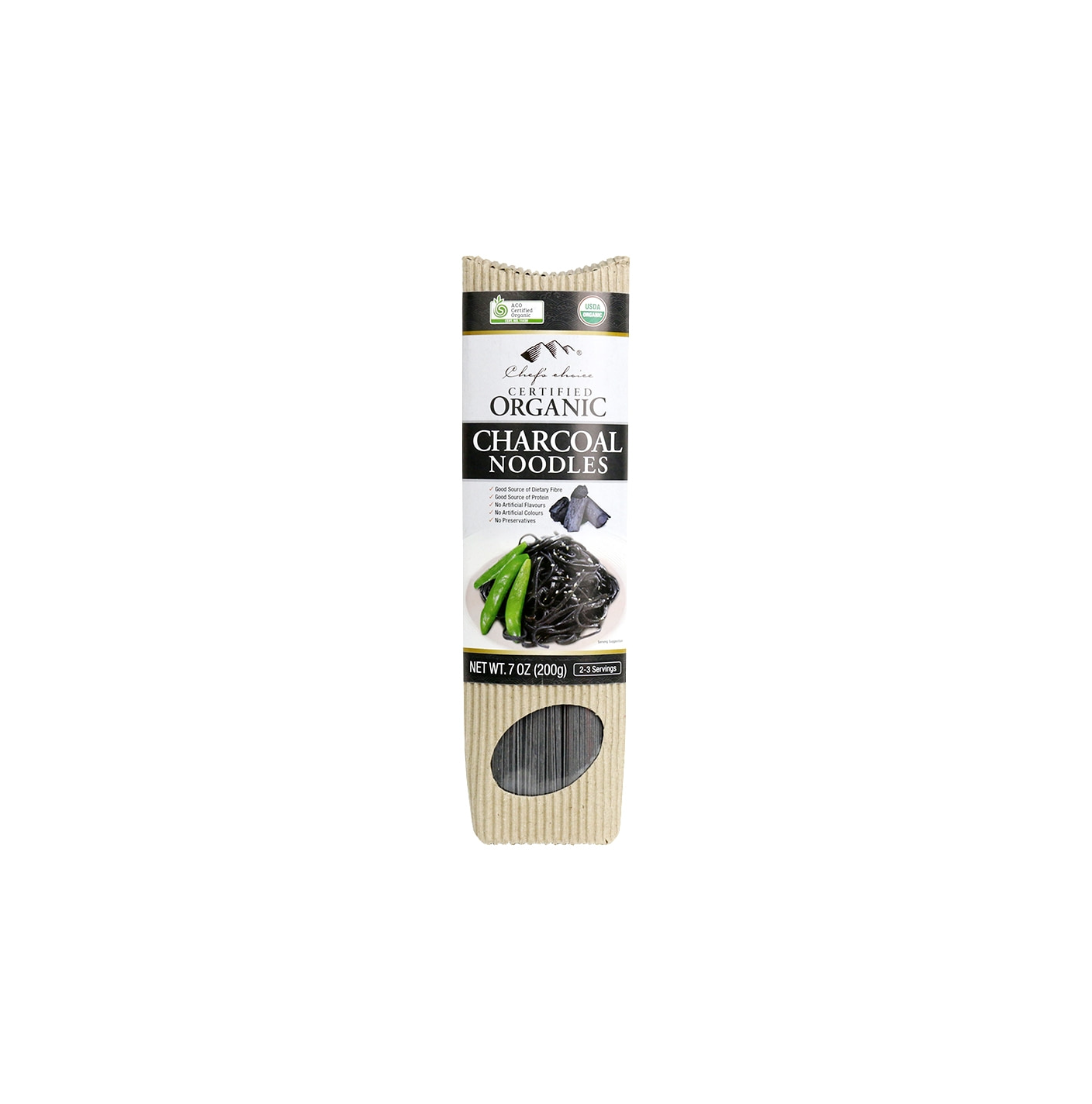 Organic Charcoal Stick Noodle 200g