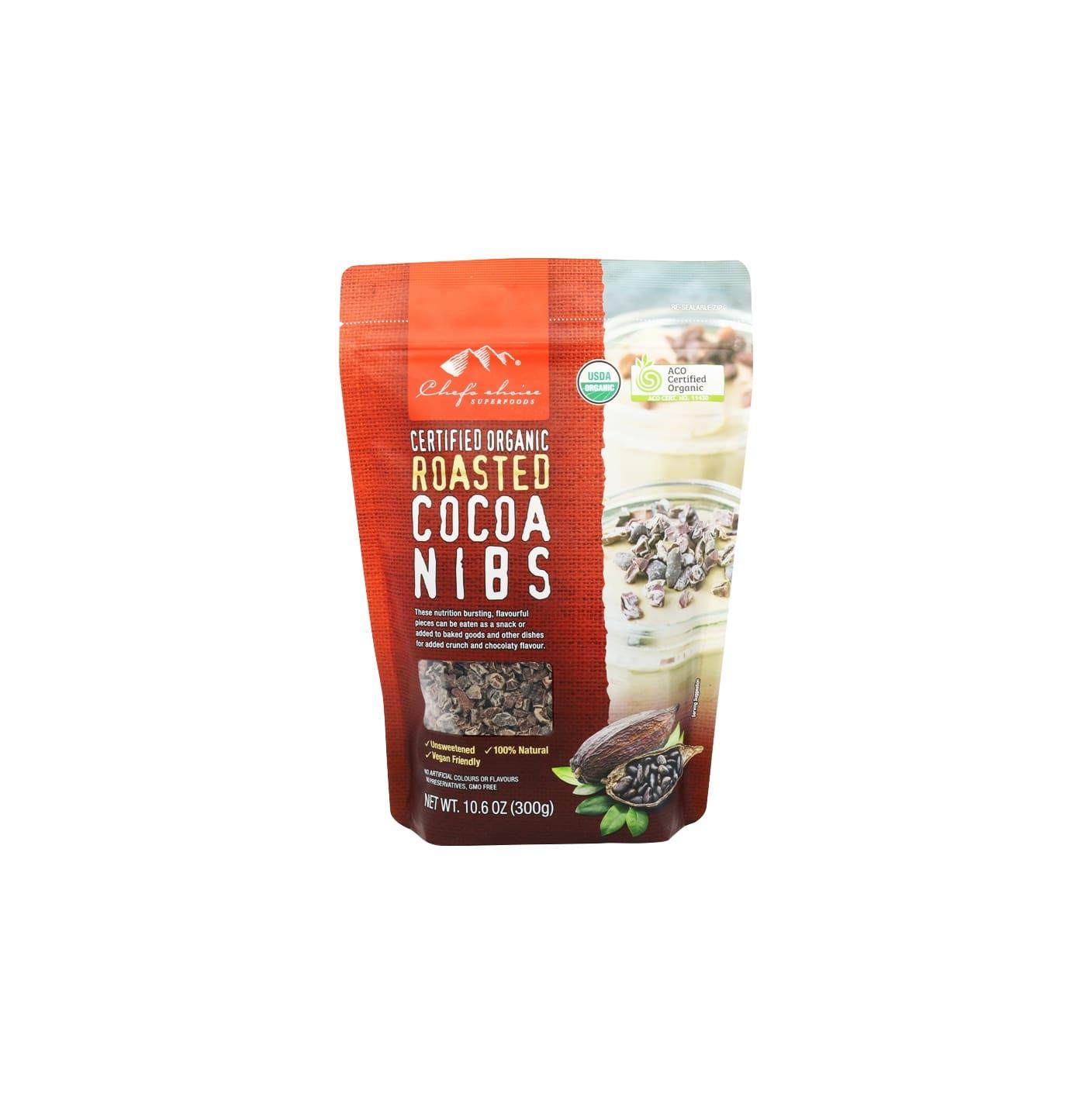 Organic Roasted Cocoa Nibs 300g