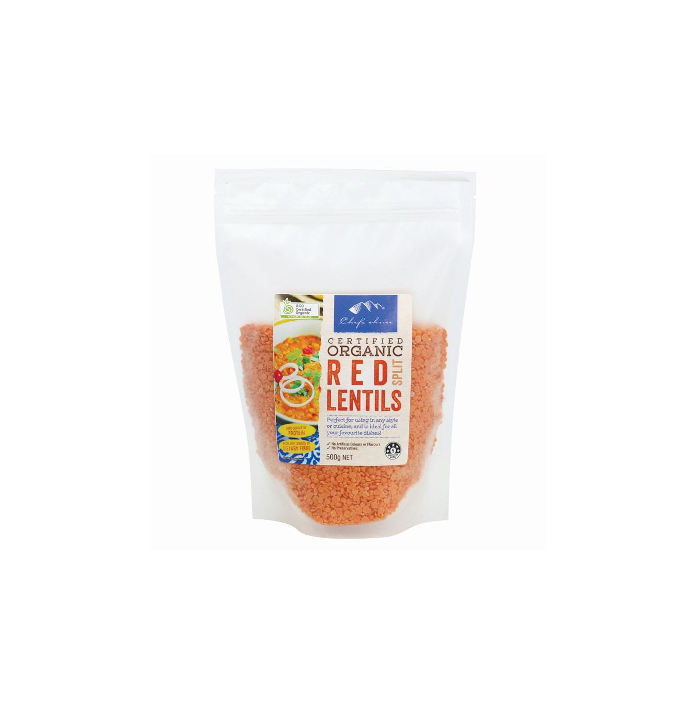 Organic Red Split lentils 500g