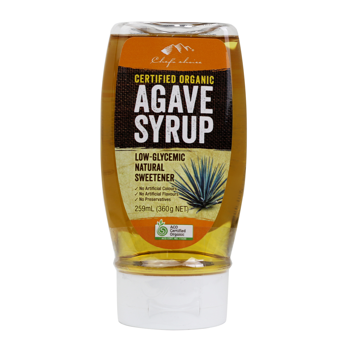 Pure Certified Organic Agave Syrup 259mL - Light