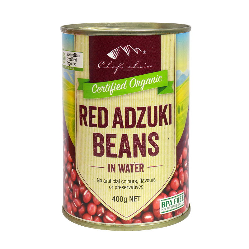 Organic Red Adzuki Beans in Water 400g